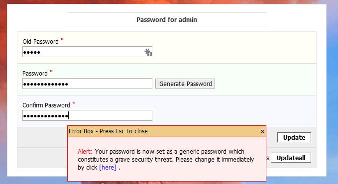 Kloxo-MR Change Password