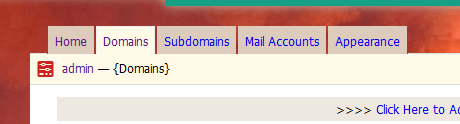 Kloxo-MR Domain Tab