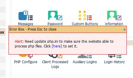 Kloxo-MR PHP.ini