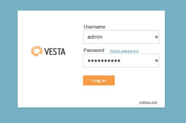 VestaCP Login