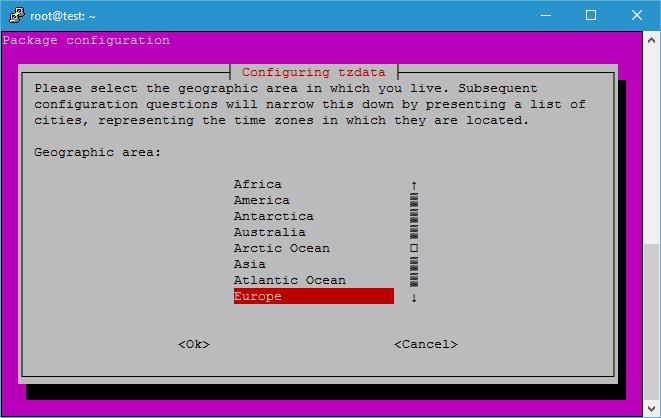 LowEndScript tzdata Area