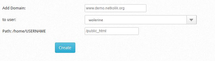CWP Create Domain
