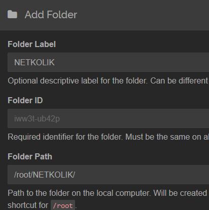 Syncthing Add Folder