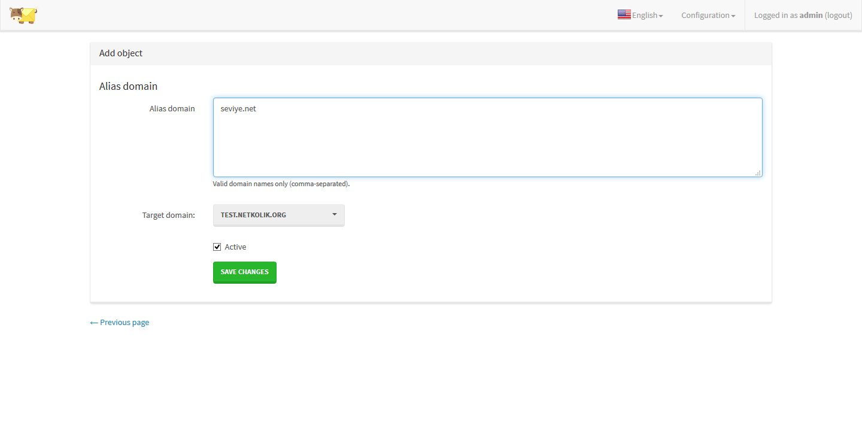 MailCow Domain Aliases