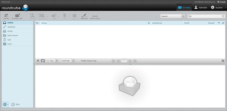 MailCow Roundcube Inbox