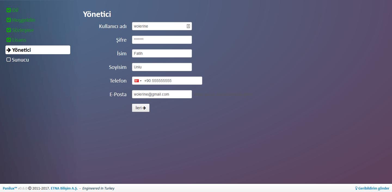 Panilux Admin Panel