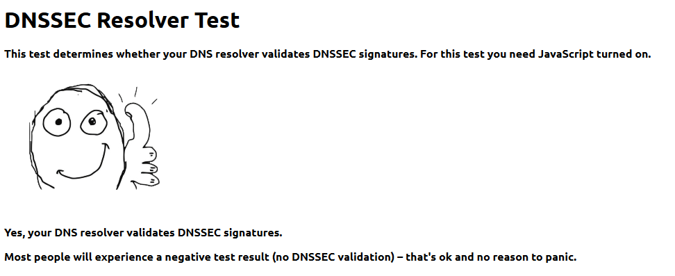 Simple DNSCrypt DNSSEC Test