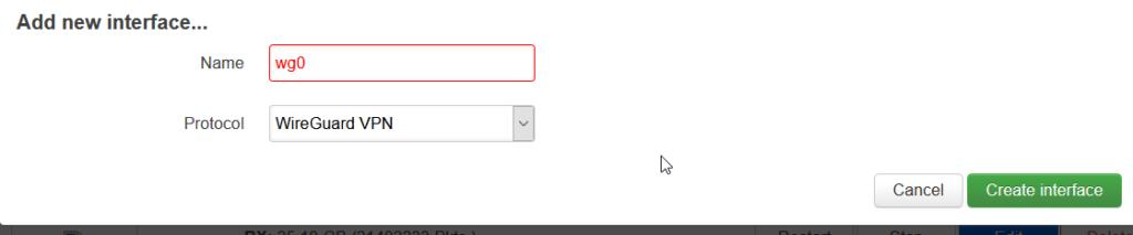 OpenWRT New Interface