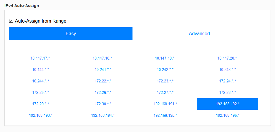 ZeroTier - Central IPv4 Settings