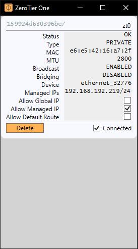 ZeroTier - Central Windows Show Network